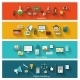 Set of Modern Concept Banners - GraphicRiver Item for Sale