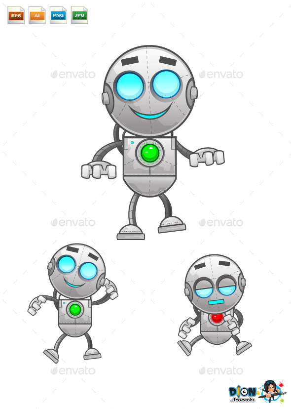 Cartoon Robot - Miscellaneous Characters