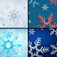 Snowflakes Backgrounds - GraphicRiver Item for Sale