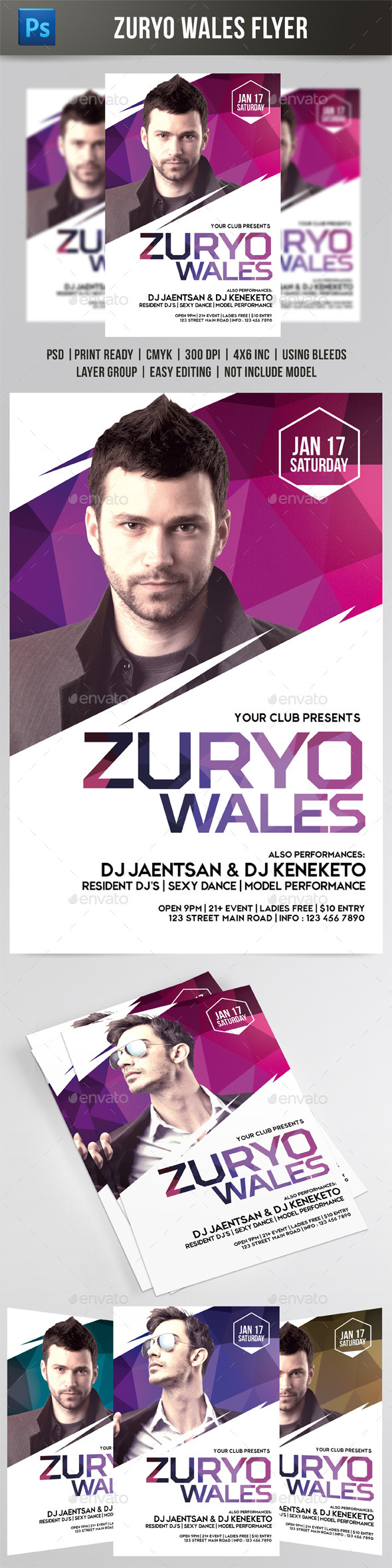 Zuryo Wales Flyer - Events Flyers