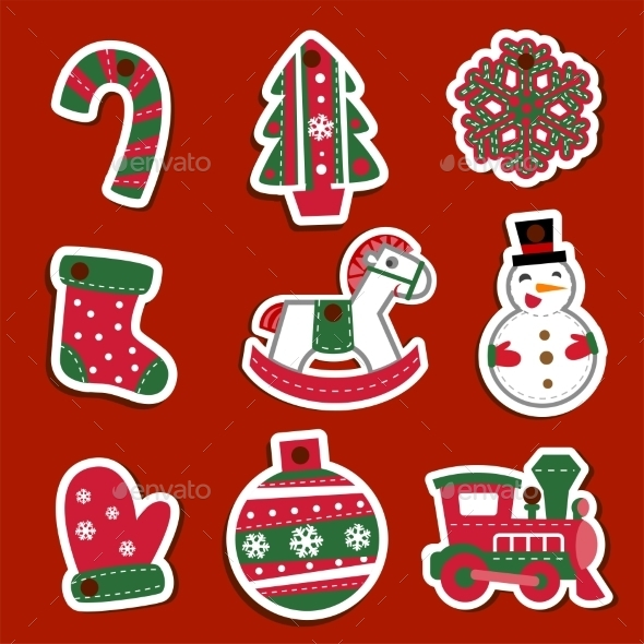 Christmas Tags or Stickers for Gifts  - Christmas Seasons/Holidays