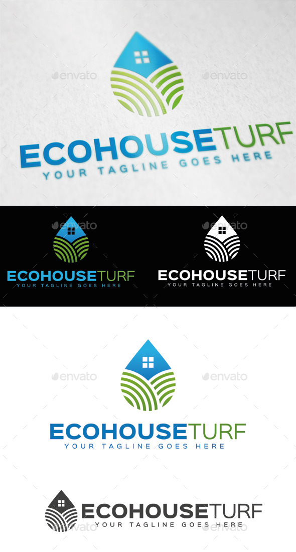 Eco House Turf Logo Template - Symbols Logo Templates