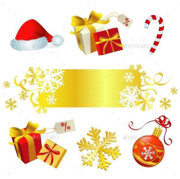 Set of Christmas Symbols - Christmas Seasons/Holidays
