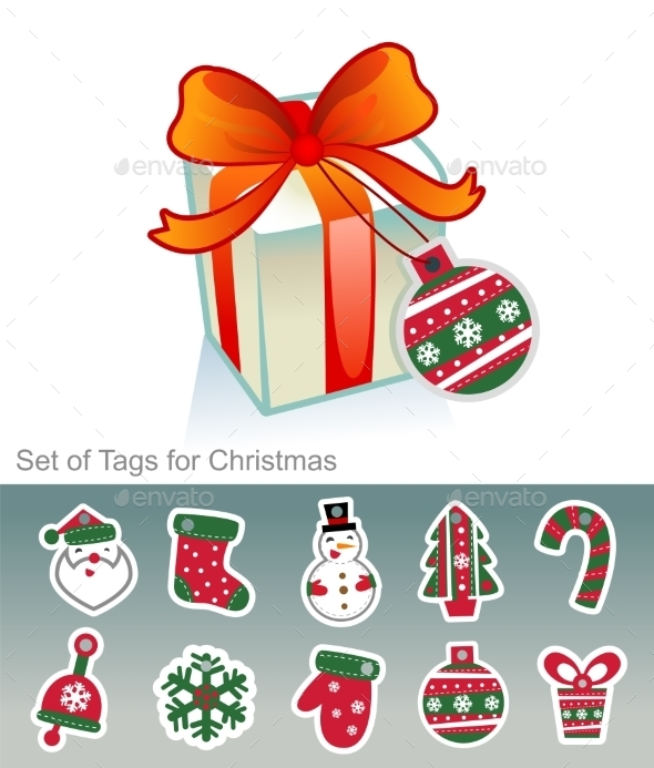 Set of Christmas Tags - Christmas Seasons/Holidays