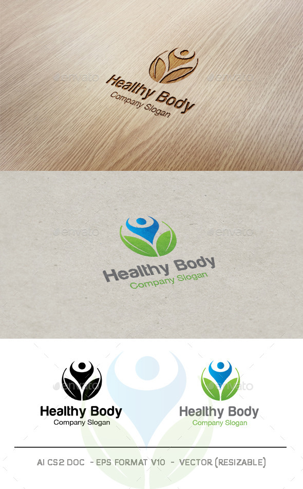 Healthy Body V2 Logo - Nature Logo Templates