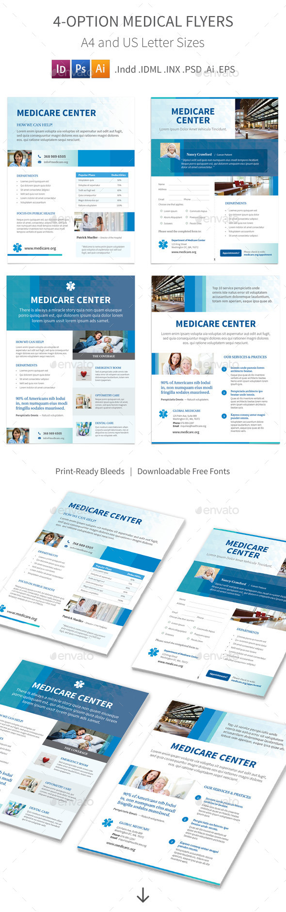 Medical Flyers – 4 Options - Corporate Flyers