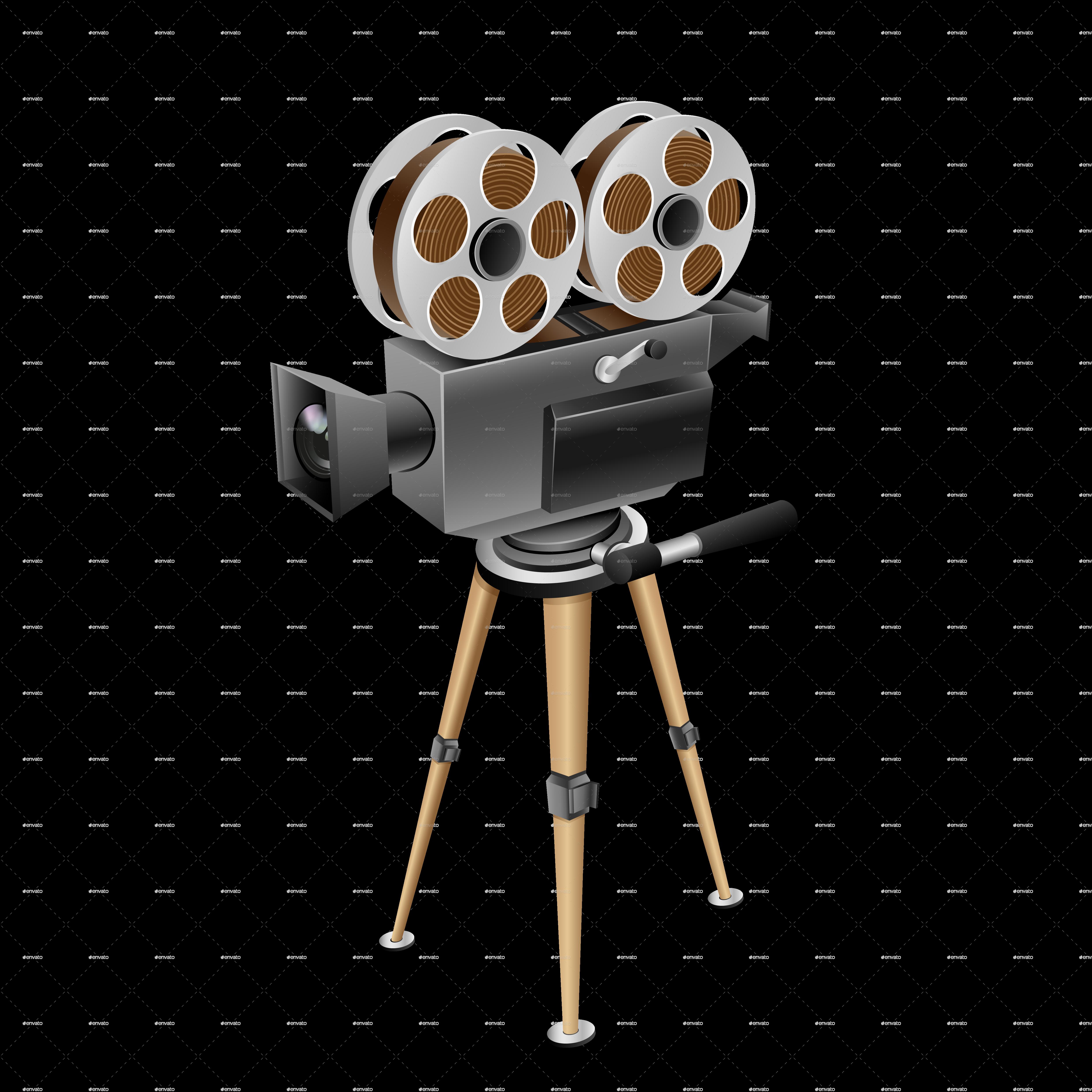 Retro Cinema Camera by romvo | GraphicRiver Кинокамера