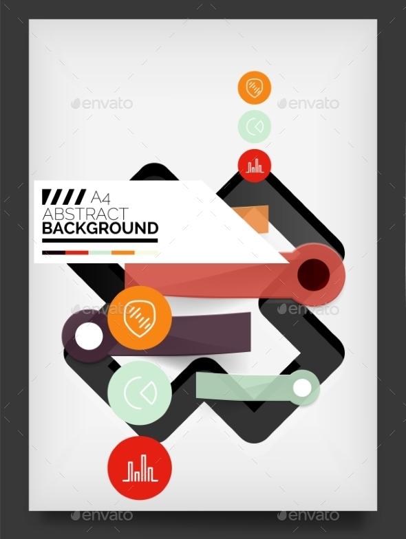 Flyer, Brochure Design Template - Web Technology