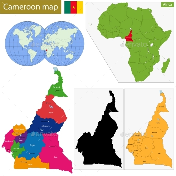 Cameroon Map - Travel Conceptual