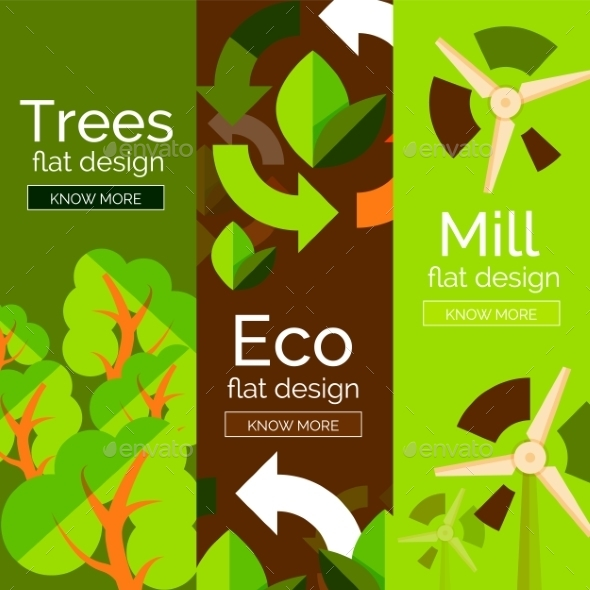 Eco Concepts - Web Elements Vectors
