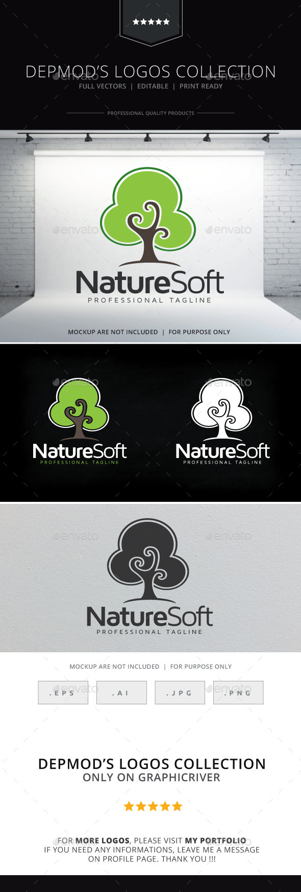 Nature Soft Logo - Nature Logo Templates