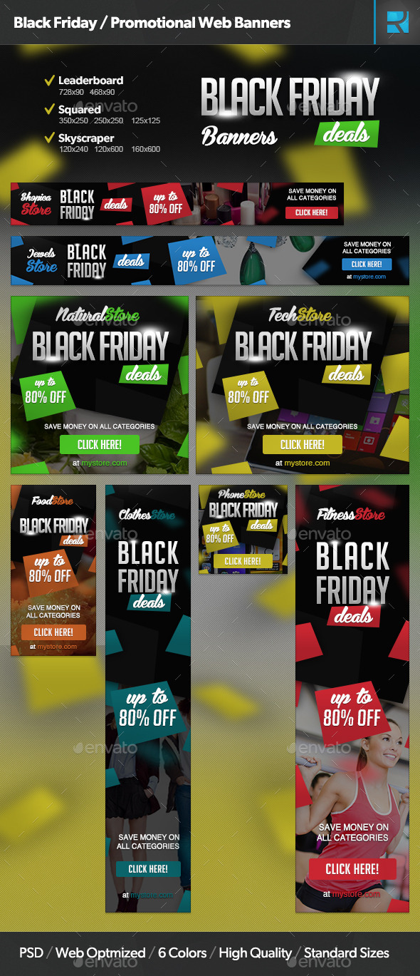 Black Friday / Promotional Web Banners
