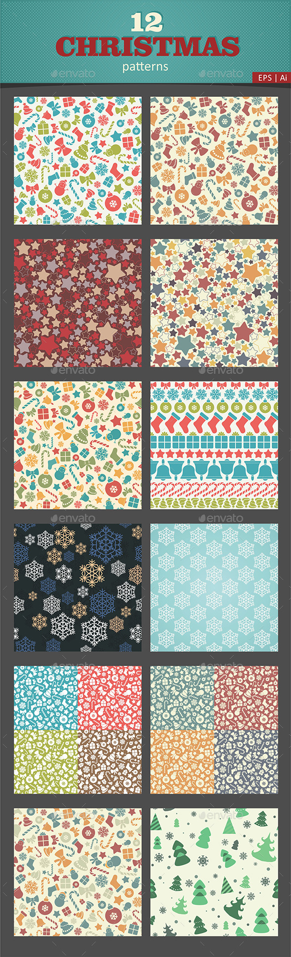 12 Christmas Pattern - Patterns Decorative