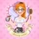 Girl Hairdresser in the Framework - GraphicRiver Item for Sale