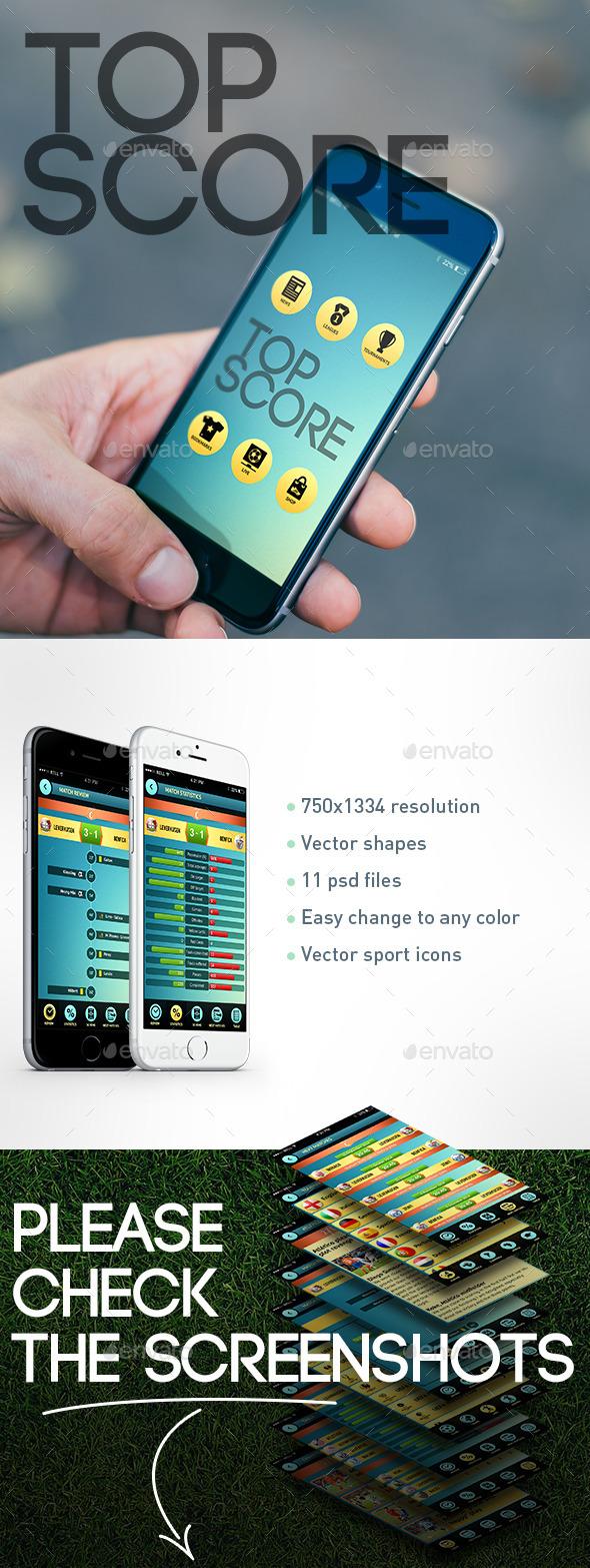 Sport App UI - Mobile Displays