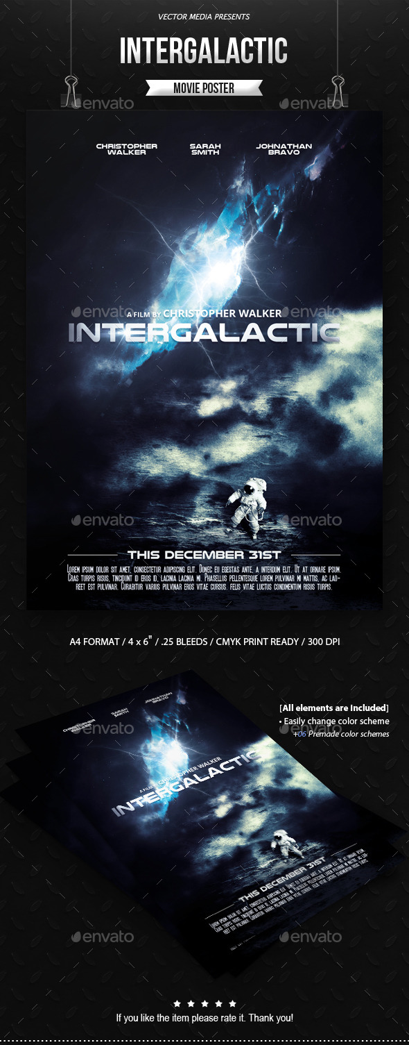 Intergalactic - Movie Poster - Miscellaneous Events