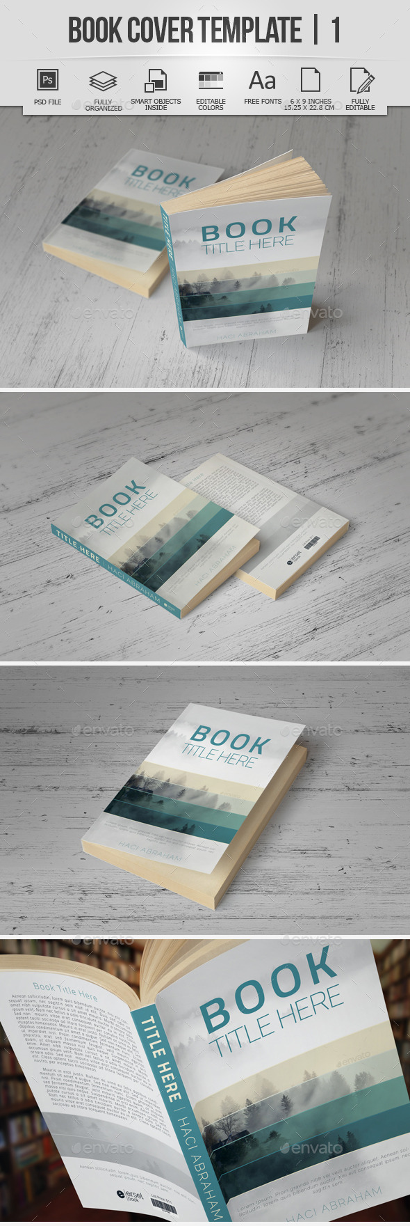 Book Cover Template | 1 - Miscellaneous Print Templates