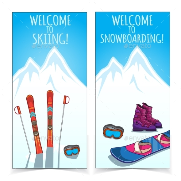 Winter Sports Banners. - Sports/Activity Conceptual