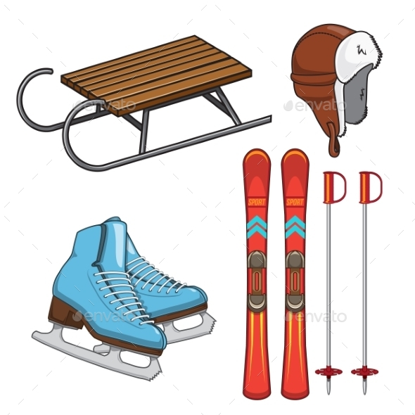 Winter Sports Collection. - Sports/Activity Conceptual