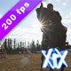 Silhouette Of A Girl And Her Horse  - VideoHive Item for Sale