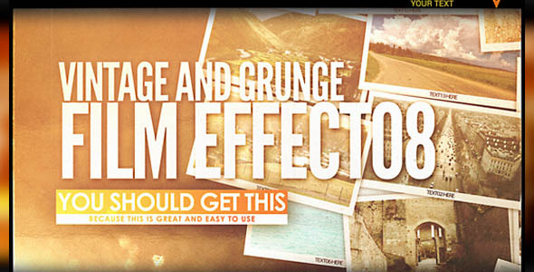 Grunge Camera Effect : Vintage and grunge film effect by ninjainc videohive