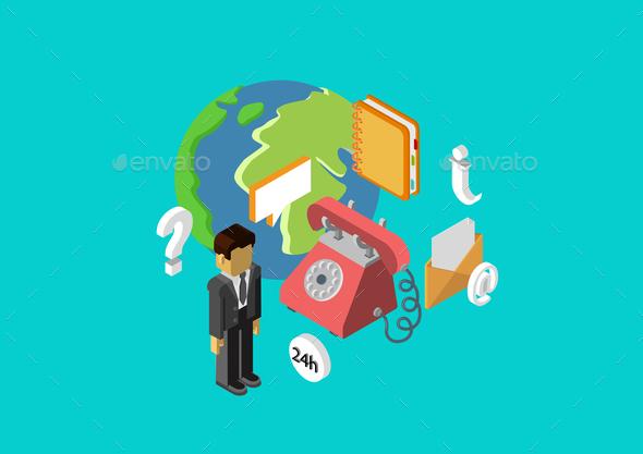 Web Infographic Concept - Concepts Business