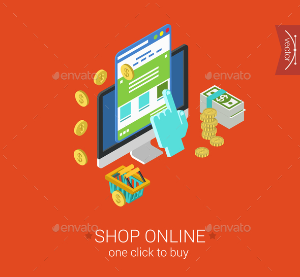 Shop Online Concept - Web Technology
