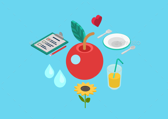 Nutrition Concept - Food Objects