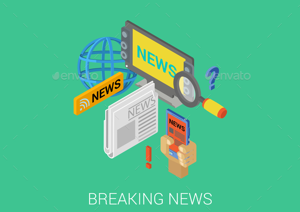Breaking News Concept - Media Technology
