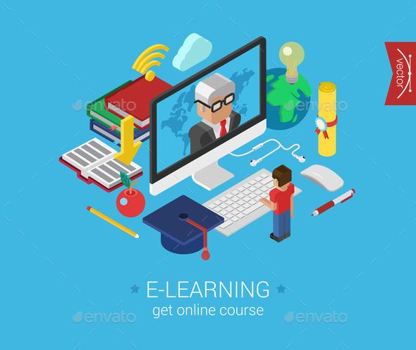 E-Learning Concept - Web Technology