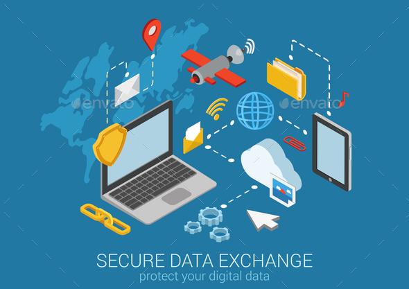 Secure Data Exchange Concept - Communications Technology