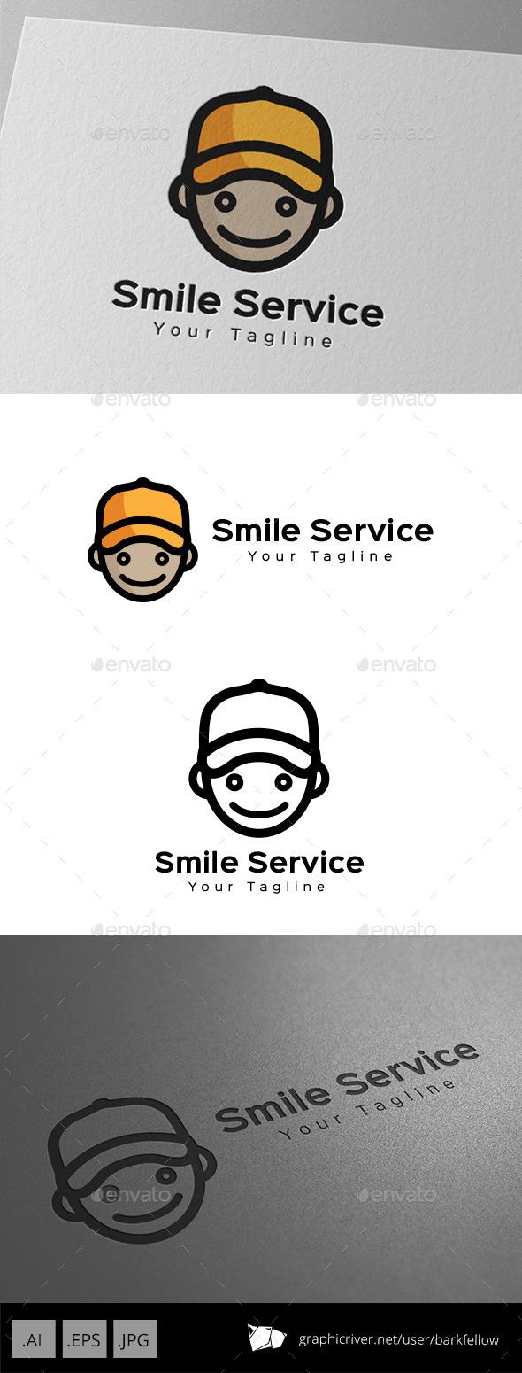 Smile Face Delivery Service Logo - Humans Logo Templates