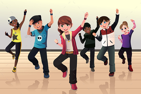 Kids in Hip Hop Dance Class - Sports/Activity Conceptual