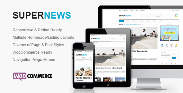 SuperNews - Ultimate HTML5 Magazine Template - Creative Site Templates