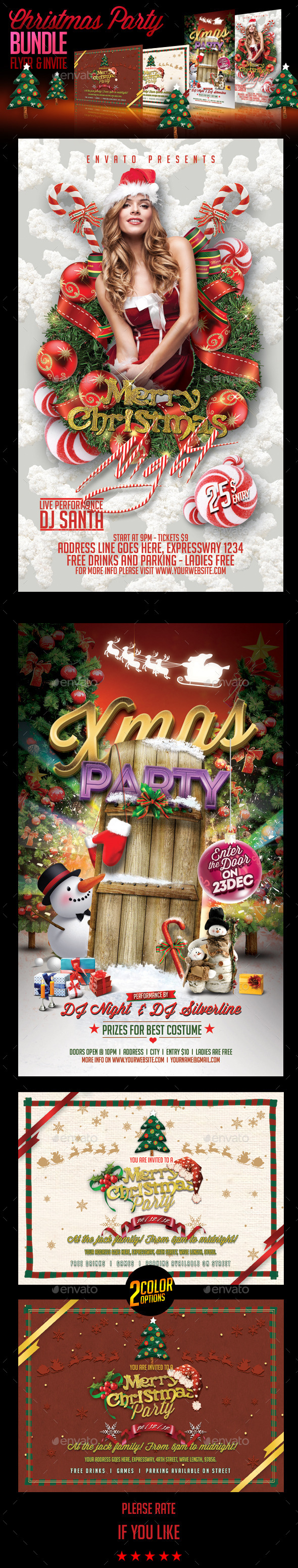 Christmas Party & Invite Bundle - Holidays Events