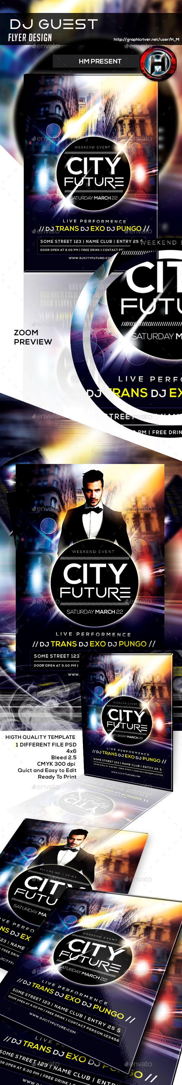 Futurism City Flyer Design - Events Flyers