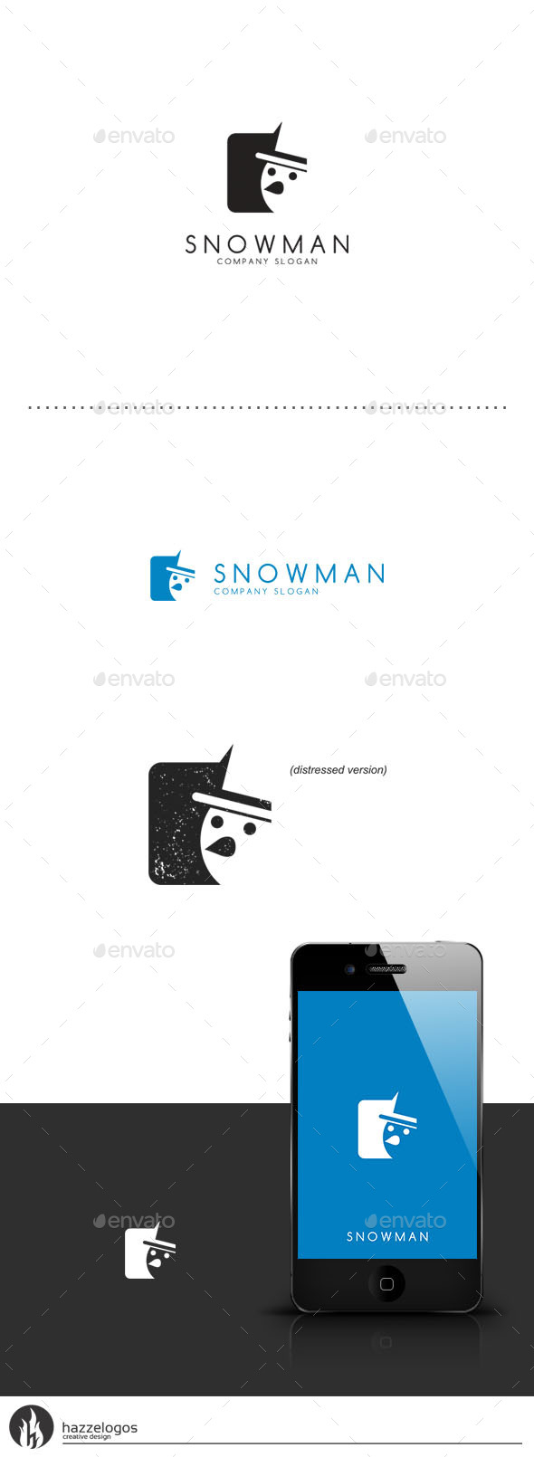 Snowman Logo - Objects Logo Templates