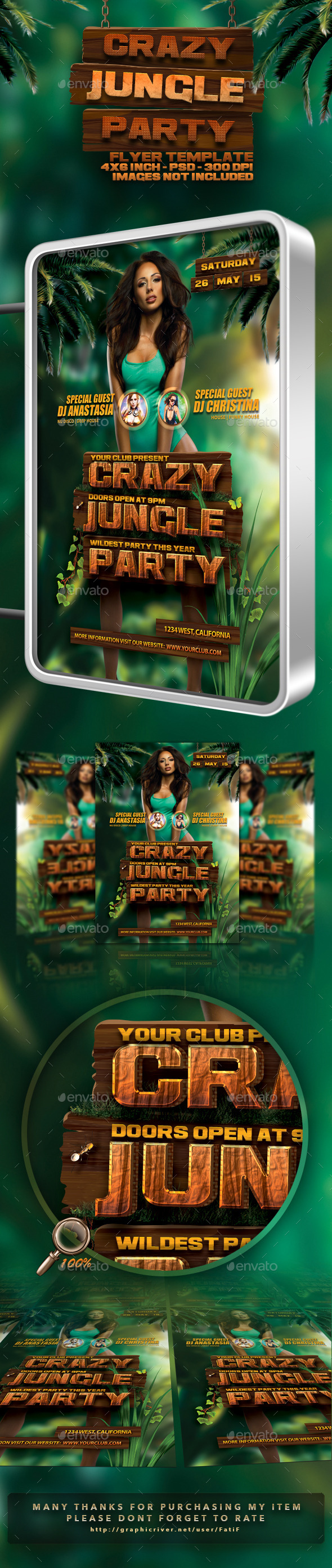 Crazy Jungle Party  - Clubs & Parties Events