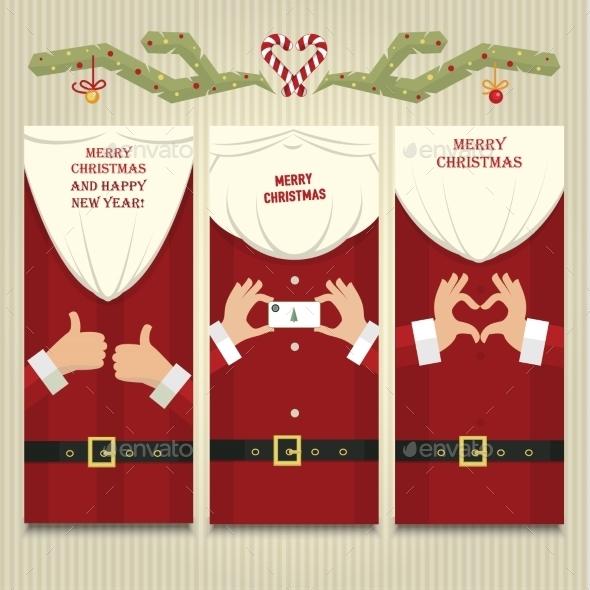 Christmas cards with Santa Claus - Christmas Seasons/Holidays