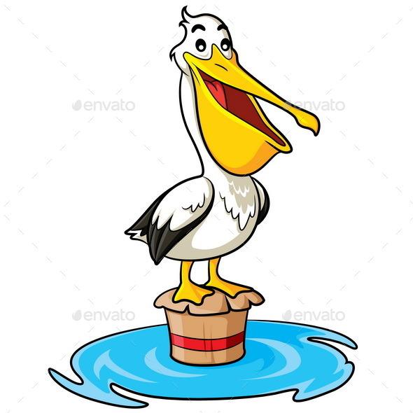Pelican Cartoon - Animals Characters