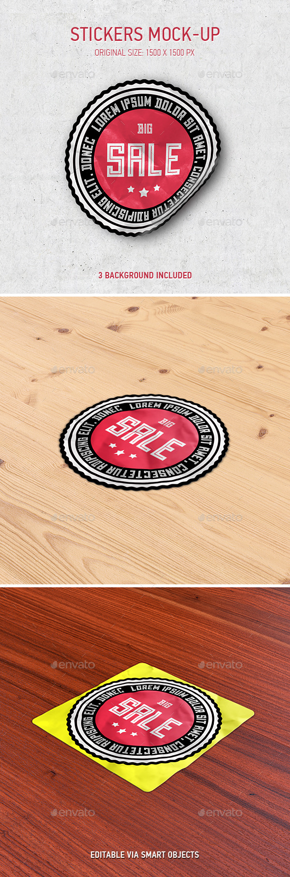 Stickers / Logo Mock-Up - Miscellaneous Print
