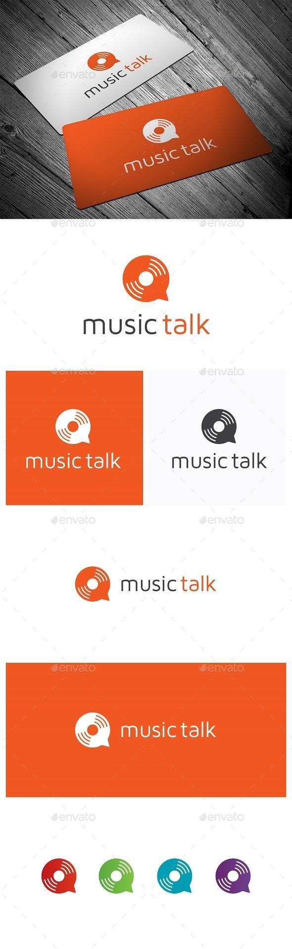 Music Talk - Objects Logo Templates