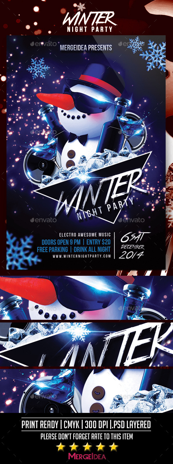 Winter Night Party Flyer - Events Flyers