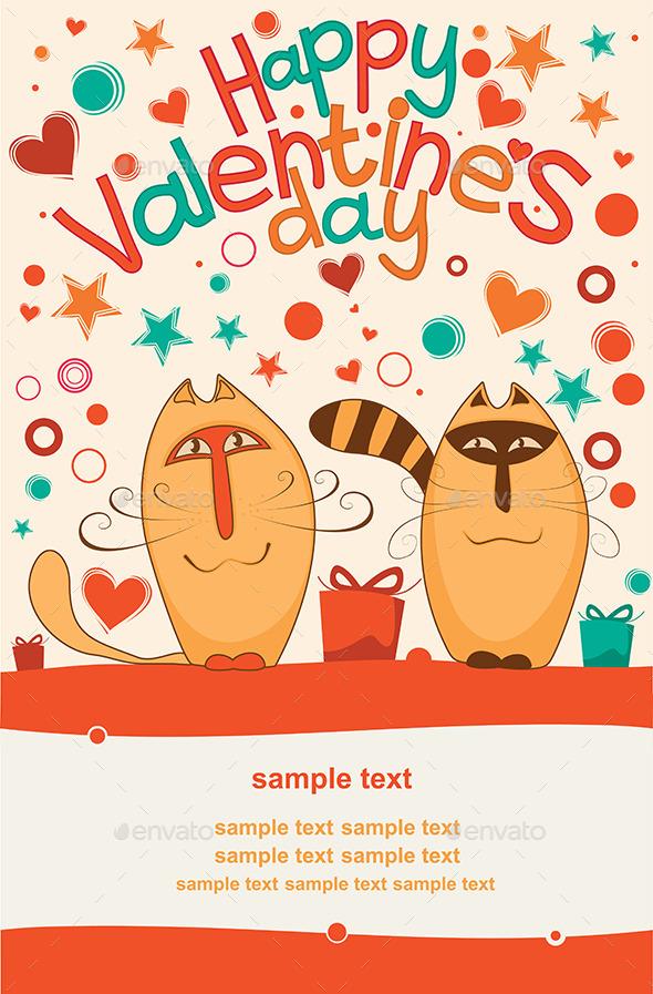 Valentine Day Cats - Valentines Seasons/Holidays