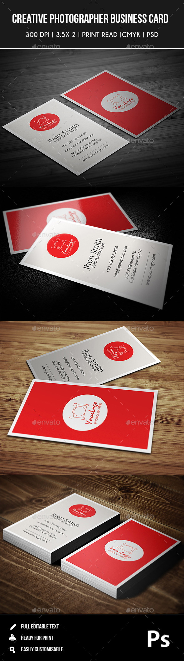 Creative Photgrapher Business Card 03 - Creative Business Cards