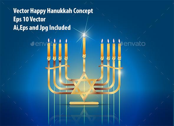 Happy Hanukkah - Seasons/Holidays Conceptual