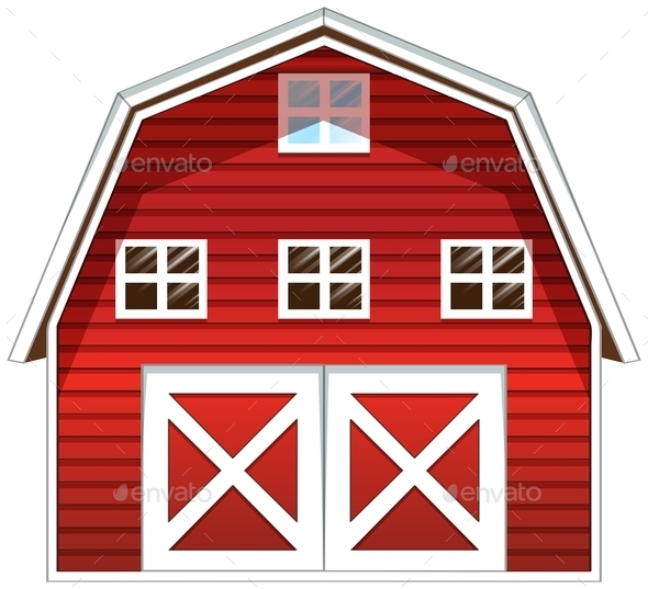 Red Barn House - Buildings Objects