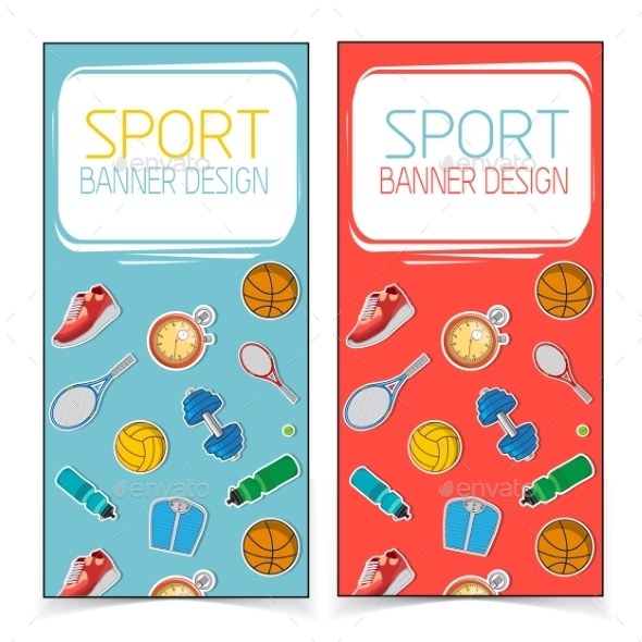 Active Lifestyle Banners - Backgrounds Decorative