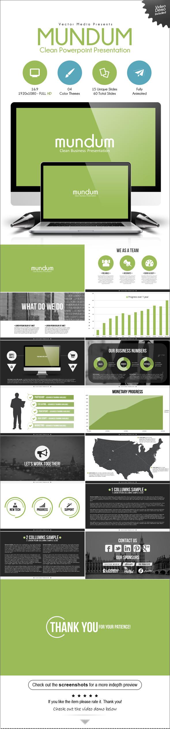 Mundum - Powerpoint Presentation - Business PowerPoint Templates