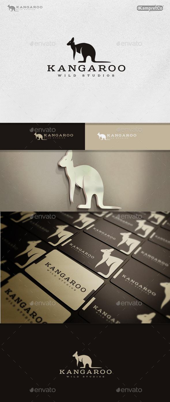 kangaroo Team Logo - Animals Logo Templates